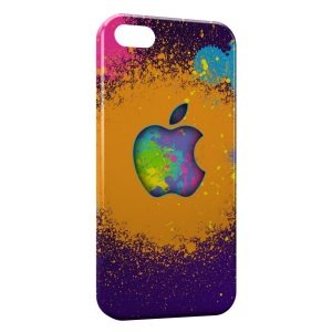 Coque iPhone 5C Apple Peinture Colors