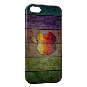 Coque iPhone 5C Apple sur bois