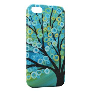 Coque iPhone 5C Arbre Paint