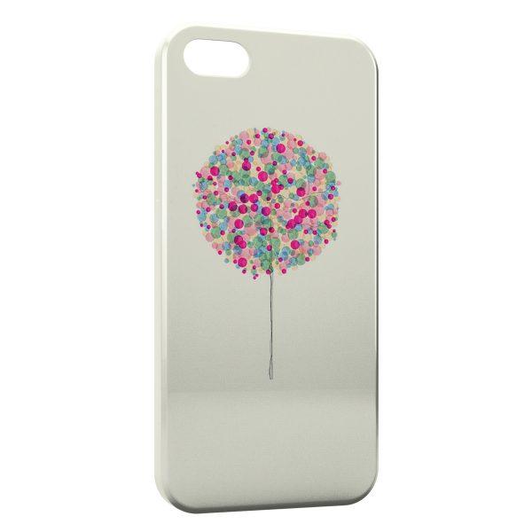 Coque iPhone 5C Arbre multicolor paint
