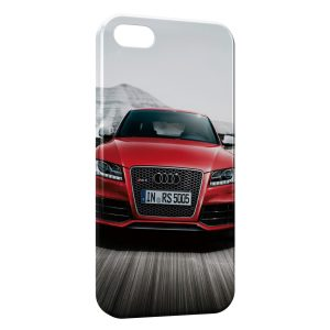 Coque iPhone 5C Audi Rouge Luxe