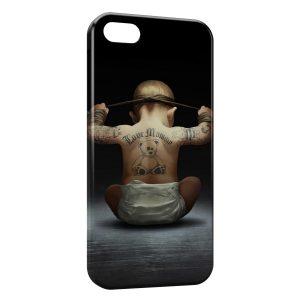 Coque iPhone 5C Bébé tatoué