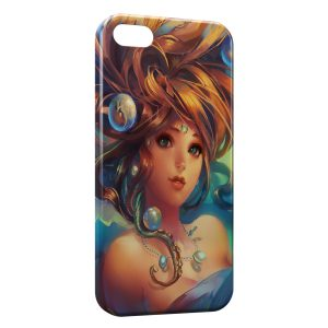 Coque iPhone 5C Beautiful Game Girl