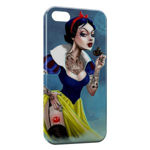 Coque iPhone 5C Blanche-Neige Tattoo Dark