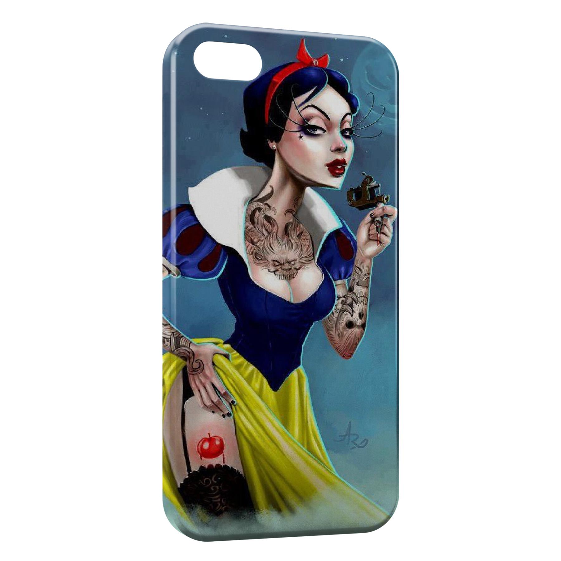 Coque iPhone 5C Blanche Neige Tattoo Dark