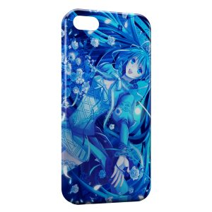 Coque iPhone 5C Blue Girly Manga