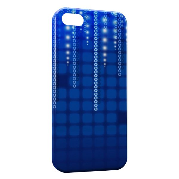 Coque iPhone 5C Blue Pixel Style