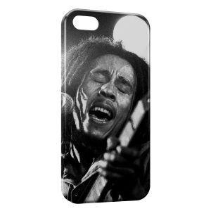 Coque iPhone 5C Bob Marley Wintage Black & White