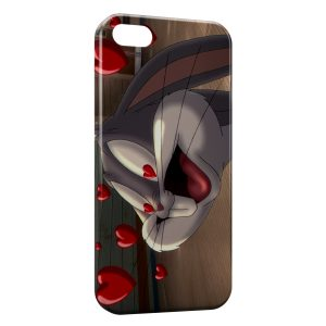 Coque iPhone 5C Bugs Bunny Love Cœurs
