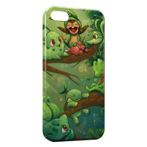 Coque iPhone 5C Bulbizarre Germignon Pokemon Herbe