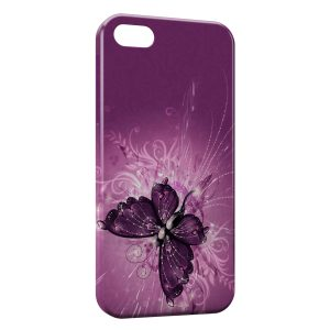 Coque iPhone 5C Butterfly Papillon Fushia