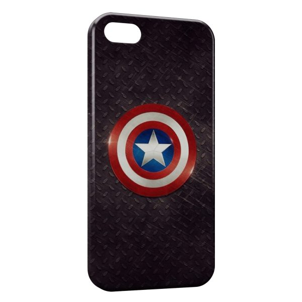 Coque iPhone 5C Captain America Bouclier 2