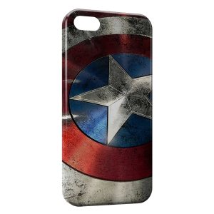 Coque iPhone 5C Captain America Bouclier