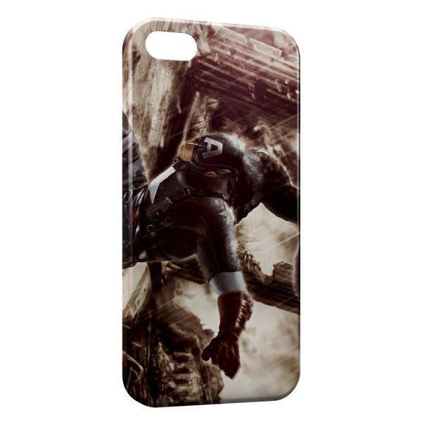 Coque iPhone 5C Captain America Vintage