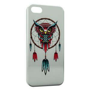Coque iPhone 5C Capteur de Reves Dream Catcher Hiboux