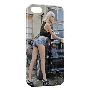 Coque iPhone 5C Car Wash Girl 2