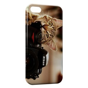 Coque iPhone 5C Chat & Appareil Photo