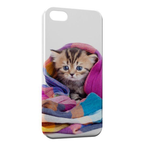 Coque iPhone 5C Chat Mignon Serviette