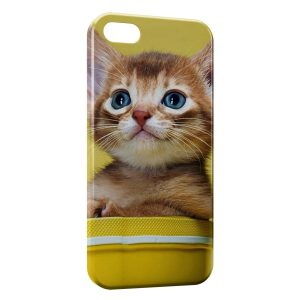 Coque iPhone 5C Chaton Jaune