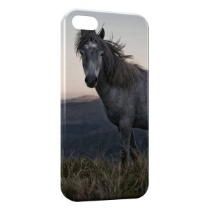 Coque iPhone 5C Cheval 5 Herbe