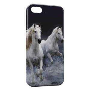 Coque iPhone 5C Cheval Chevaux Water Sprint