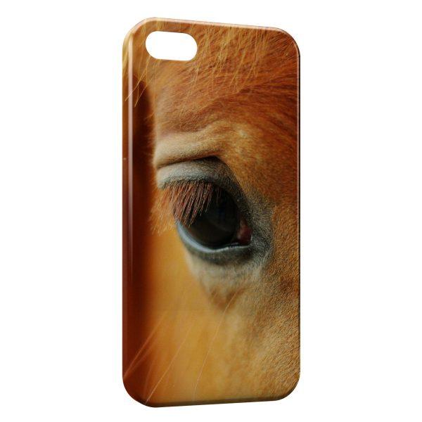 Coque iPhone 5C Cheval Oeil Eye 3