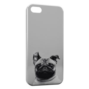 Coque iPhone 5C Chien Bulldog Cute Black White