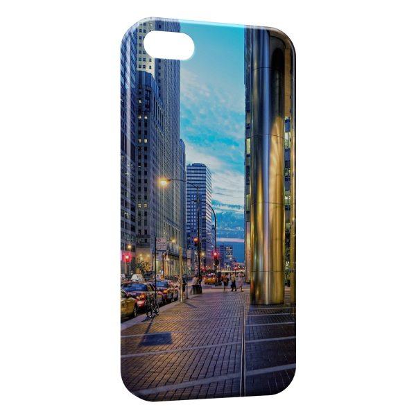 Coque iPhone 5C City & Blue Sky