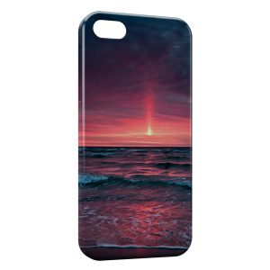 Coque iPhone 5C Coucher de Soleil Rose