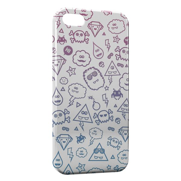 Coque iPhone 5C Cute Monsters
