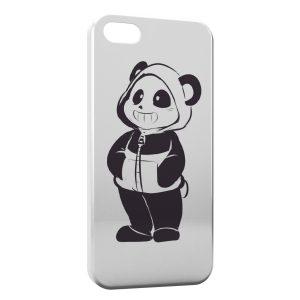 Coque iPhone 5C Cute Panda Black & White Art