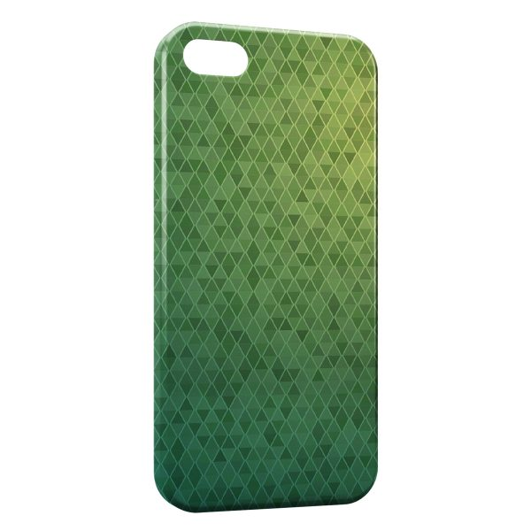 Coque iPhone 5C Damier vert Design