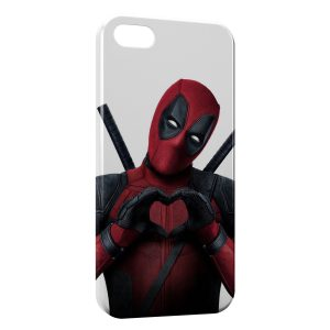 Coque iPhone 5C Deadpool Love