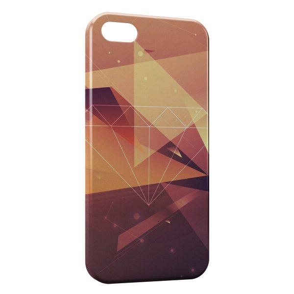Coque iPhone 5C Diamant Gold 2