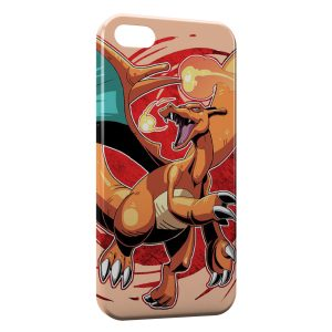 Coque iPhone 5C Dracaufeu Pokemon 4 Style