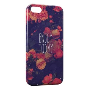Coque iPhone 5C Enjoy Today Flowers