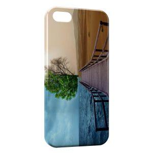 Coque iPhone 5C Entre Mer et Désert