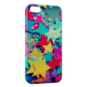 Coque iPhone 5C Etoiles Colorées Scrapbooking