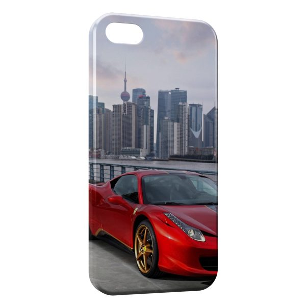 Coque iPhone 5C Ferrari City Red Voiture 600x600