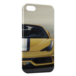 Coque iPhone 5C Ferrari Jaune Voiture Luxe