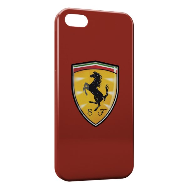 Coque iPhone 5C Ferrari Logo Cheval Graphic Red 600x600