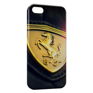 Coque iPhone 5C Ferrari Logo Design Voiture 3