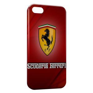 Coque iPhone 5C Ferrari Red Logo Design