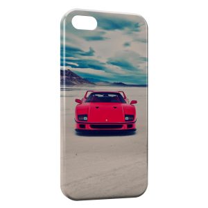 Coque iPhone 5C Ferrari Rouge Vintage Blue Sky