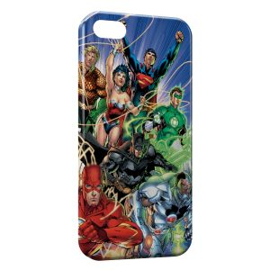 Coque iPhone 5C Flash Batman Superman Green Lantern