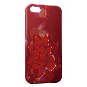 Coque iPhone 5C Fleur rouge