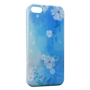 Coque iPhone 5C Fleurs Blue Style
