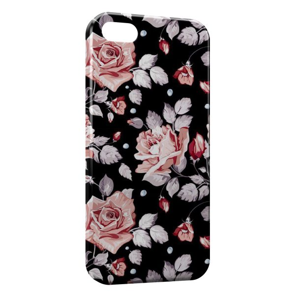 Coque iPhone 5C Fleurs Flowers Design 5