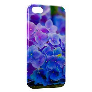 Coque iPhone 5C Fleurs bleues