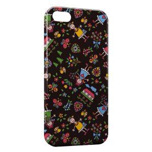 Coque iPhone 5C Fleurs & poupée